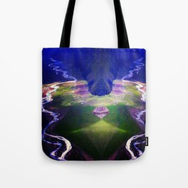 Down by the river blue Tote Bag