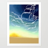 sail Art Prints featuring Sail by Megan Fitts