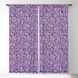 I don't need to improve - Purple and pink Blackout Curtain