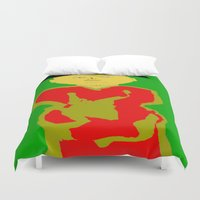 asia Duvet Covers featuring Asia by Happy Fish Gallery