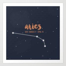 Aries coloured backgound Art Print