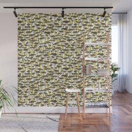 Yellow Foot Mushrooms Wall Mural