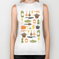 kitchen Biker Tanks featuring Kitchen by Bellwheel