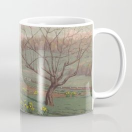 Daffodil Sunset landscape painting by William Anderson Coffin Coffee Mug