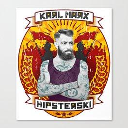 Karl Marx Hipster Canvas Print