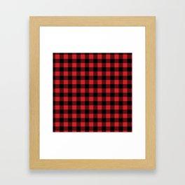 Buffalo Plaid Rustic Lumberjack Buffalo Check Pattern Framed Art Print