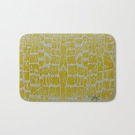 Yellow Sugarcane Bath Mat