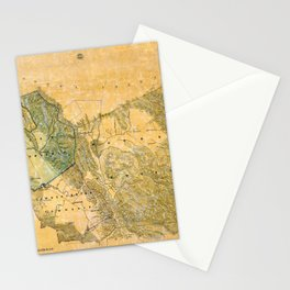 Map Of Alameda 1857 Stationery Cards