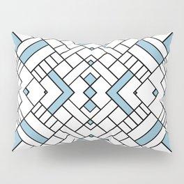 PS Grid 45 Sky Blue Pillow Sham