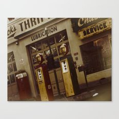 Gas Station of old Canvas Print