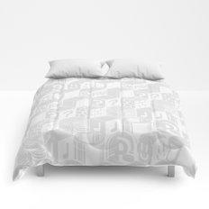 SUPER MARIO BLOCK-OUT! (White Edition) Comforters