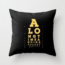 Jed Eye Chart Throw Pillow