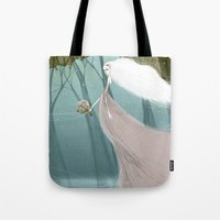 bride Tote Bags featuring Bride by 7043