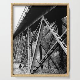 Railroad #Society6  #decor #buy art Serving Tray