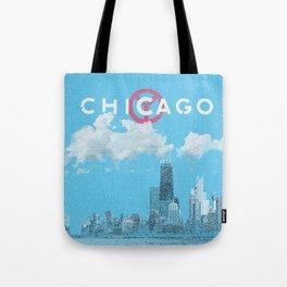 Chicago - Light blue Tote Bag