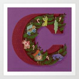 C is for Christmas Art Print