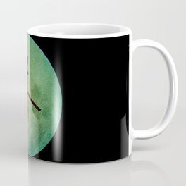 Helicopter returning home during a full moon night Coffee Mug