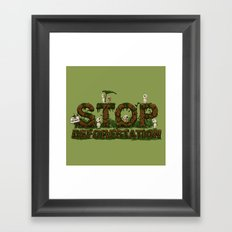 Save Kodamas Framed Art Print