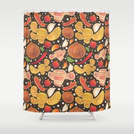 Indonesia Spices Shower Curtain