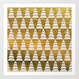Geometric Christmas Trees 5 Art Print