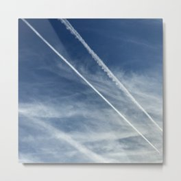 Exquisite Sky-Piercing Jet Trails Metal Print