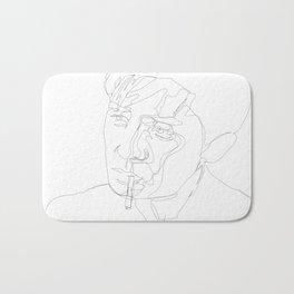 smoking man Bath Mat