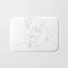 smoking man Bath Mat