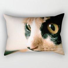 Thinking Cat Rectangular Pillow