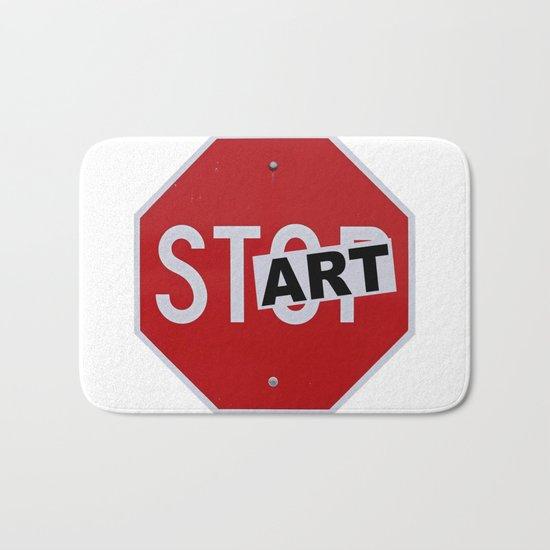 Stop Start Art Bath Mat