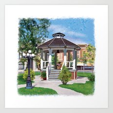 Gilmore Girls Stars Hollow Gazebo Art Print