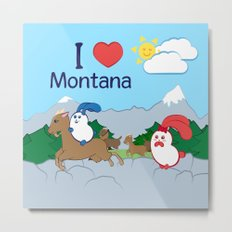 Ernest and Coraline | I love Montana Metal Print