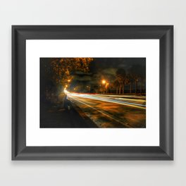 Light Strike Framed Art Print