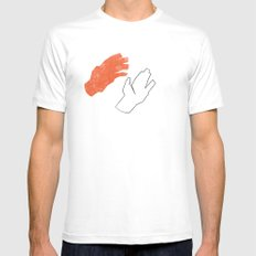 Two Hands MEDIUM Mens Fitted Tee White