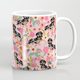Dapple Dachshund doxie lover floral must have gifts dachsie flowers Coffee Mug