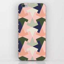 Retro pattern geometric iPhone Skin