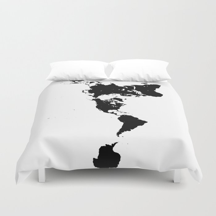 Dymaxion world map fuller projection map minimalist black on dymaxion world map fuller projection map minimalist black on white duvet cover gumiabroncs Images