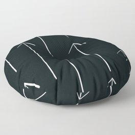 MOD_VerticalArrows_Charcoal Floor Pillow