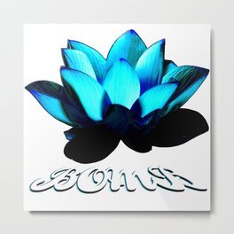 Lotus Flower Bomb Metal Print