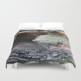 A Great Day to Play in the Water with a LOG Duvet Cover