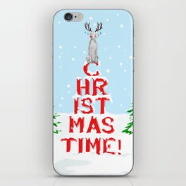 CHRISTMAS TIME WEIMARANER iPhone Skin