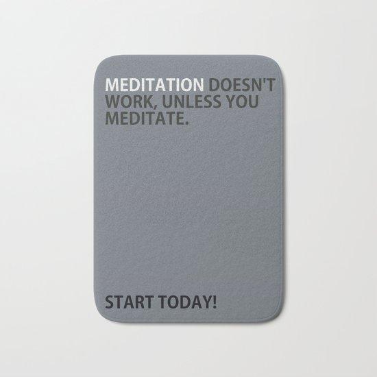 Mediation doesn't work Bath Mat