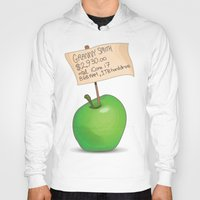 apple Hoodies featuring Apple by James Thornton