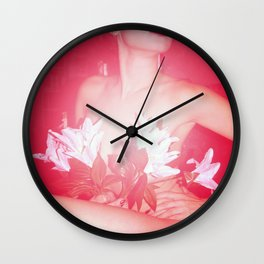 Lady Of The Lilies Wall Clock