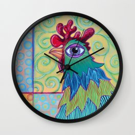 Chicken in the Vines Wall Clock