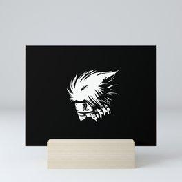 White Anime Hero Character Mini Art Print