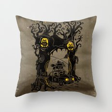Trip to Enchanted Forest Throw Pillow
