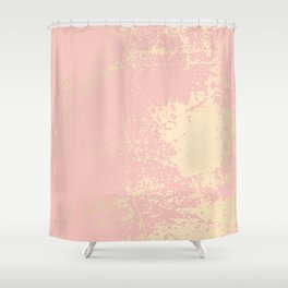 Coral gold patina Shower Curtain
