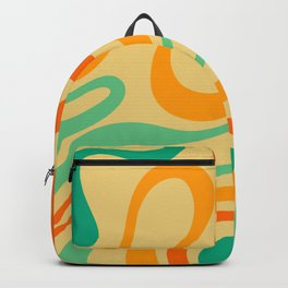Retro Abstract Vintage Colors Backpack