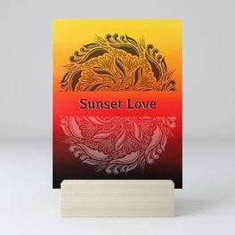 Sunset Love Mandala Poster Mini Art Print