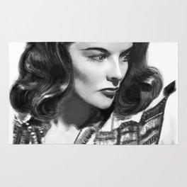 Katharine Hepburn Portrait Rug